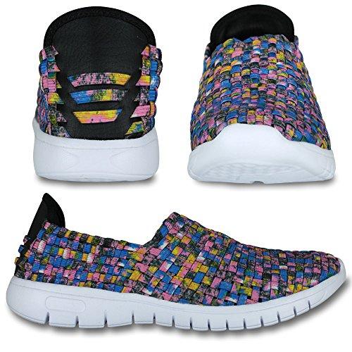 Laufschuhe - Turnschuhe - Schuhe - Slipper - Damen mit Farb- und Größenauswahl Blau/Lila