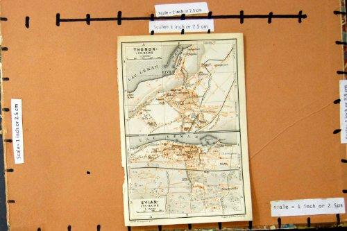 pianificazione-1914-della-via-della-mappa-francia-thonon-les-baines-evian