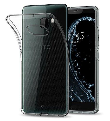 HTC U Ultra Hülle, Spigen® [Liquid Crystal] Soft Flex Silikon [Crystal Clear] Transparent Ultra Dünn Schlank BumperStyle Handyhülle Premium Kratzfest TPU Durchsichtige Schutzhülle für HTC U Ultra Case Cover Crystal Clear (H10CS21366)