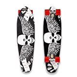 WeSkate Mini Cruiser Board, Retro Vintage Skateboard 71cm