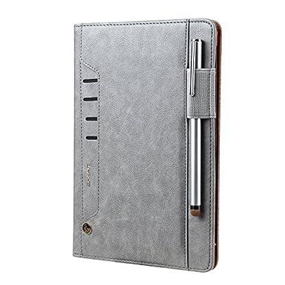 elecfan-iPad-2018-Hlle-mit-Stifthalter-Premium-Kunstleder-Unternehmen-Stil-Ultra-Schlank-Schutzhlle-Hlle-Etui-fr-Apple-iPad-Air-iPad-Air-2-iPad-Pro-97-20172018-New-iPad-Grau