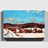 Big Box Art Canvas Print 24 x 16 inch (60 x 40 cm) Tom Thomson Early Spring - Canvas Wall Art Picture Ready to Hang - Free Delivery