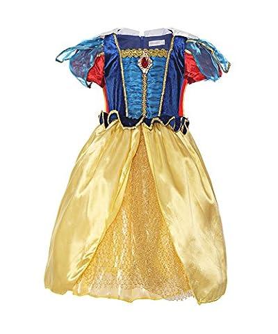 Costumes Dhalloween Avec Des Costumes Robe Blanche - ReliBeauty – Fille – Robe de princesse