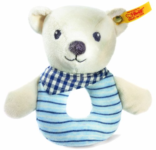Steiff-Knuffi-Teddy-Bear-Grip-Toy-WhiteBlue