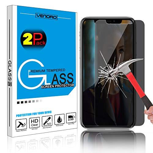 Venoro Displayschutzfolie für iPhone XS, Härtegrad 9H, entspiegelt, Privatsphäre, Anti-Spy, gehärtetes Glas, kompatibel mit iPhone XS, max. 16,5 cm (16,5 Zoll), 2er-Set (Thanksgiving Verlässt Zu)