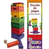 Juego La Torre de Colores XL Acuamarine Tamaño XL con Dado y 6 Colores Brillantes