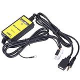 Qiilu Câble Aux Adaptateur USB Voiture Auto Lecteur Mp3 Audio Auxiliaire Interface Autoradio pour VW Skoda