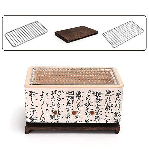 51KZmKm2j1L. SS500  - 4 In 1 Japanese Ceramic Hibachi BBQ Table Grill Yakitori Barbecue Charcoal Mini Grill Bergmeal Figuline Cooking Stove
