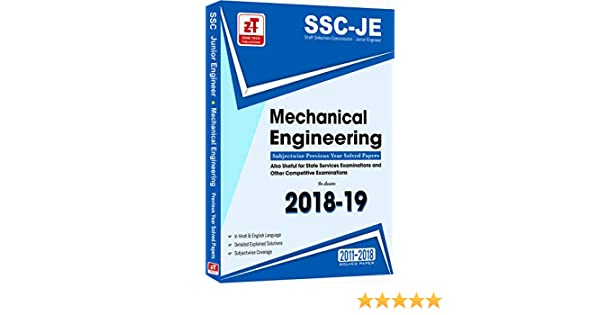 Buy SSC JE - MECHANICAL ENGINEERING Previous Year Solved Papers