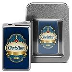 Feuerzeug mit Namen Christian - personalisiertes Gasfeuerzeug mit Design Keep Calm - inkl. Metall-Geschenk-Box 6