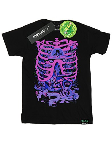 Absolute Cult Herren Rick and Morty Anatomy Park T-Shirt Schwarz