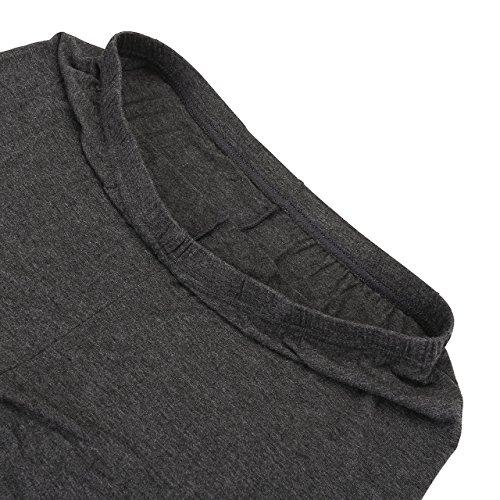 CHIC DIARY Damen Modal Übergröße Leggings Elastische Plus Size Strumpfhose blickdicht Uni Farbe Hosen Pants für Sport Fitness Yoga Joggen Dunkelgrau