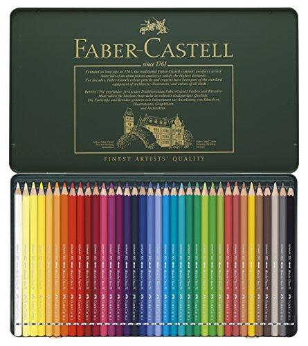 faber-castell-117536-estuche-de-metal-con-36-ecolapices-acuarelables-multicolor