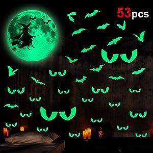 Howaf Halloween Decoración Luminoso Pegatinas
