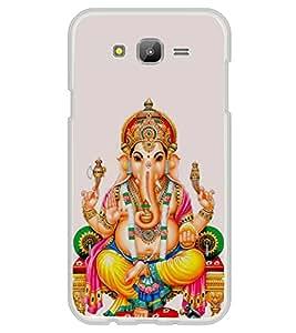FUSON Shree Ganesha Seating Sinhasan Designer Back Case Cover for Samsung Galaxy E5 (2015) :: Samsung Galaxy E5 Duos :: Samsung Galaxy E5 E500F E500H E500Hq E500M E500F/Ds E500H/Ds E500M/Ds