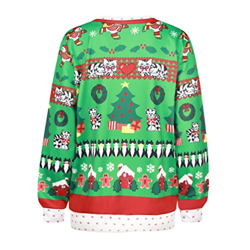 NiSeng Donna Uomo Caldo Sweater con Stampa Ugly Natale Felpa Manica Lunga Pullover Felpe Style 4