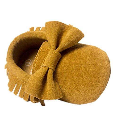 Monate Quasten Lauflernschuhe Baby Casual Yellow ~ Sneakers Longra Schuhe 0 18 krippe Bowknot Babyschuhe 84t7AqxAw