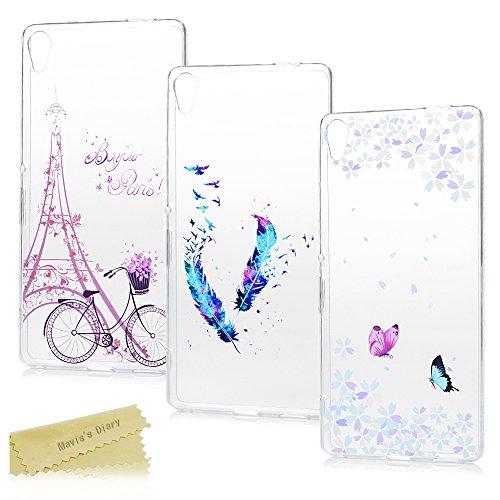 3-pack-sony-xperia-xa-ultra-case-maviss-diary-3-pcs-clear-soft-flexible-tpu-silicone-rubber-skin-bum