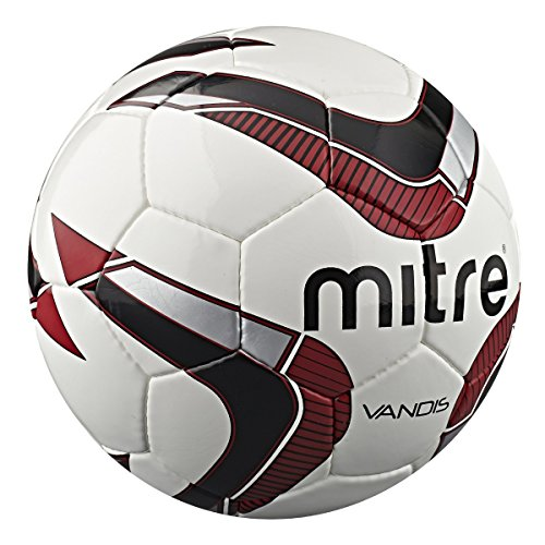 Mitre Vandis 32P Ball - White Red Black - 4
