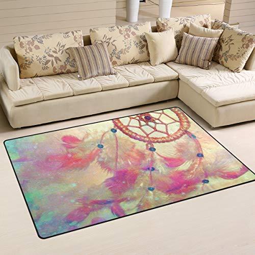 XiangHeFu - Alfombra Antideslizante para salón, Comedor, Dormitorio, Dormitorio, diseño de atrapasueños, 5,08 x 2,54 x 50,8 cm, Image 203, 31x20 Inches