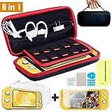 Th-some Etui pour Nintendo Switch Lite - Protection Nintendo Switch Lite Housse 6 en 1, Le kit d'accessoires pour Nintendo Switch Lite 10 porte jeux, Protection Transparente, Protection écran