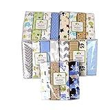 Mengonee 4pcs / set Baumwolle Baby Decke Neugeborenes Bedsheet Swaddler Infant Swaddle Wrap-Sack-Beutel Schlafsack zufällige Farbe