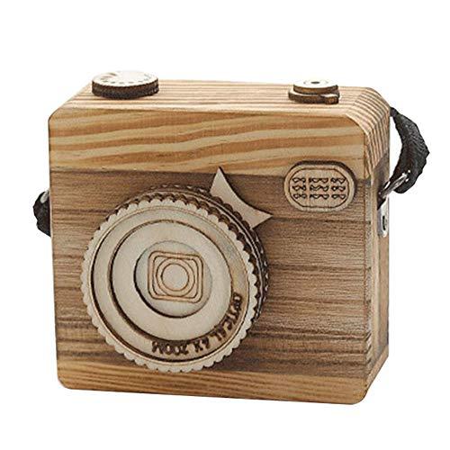 o Kamera Styling H?lzerne Spieluhr Geschenk für Weihnachten Alles Gute zum Geburtstag Neues Jahr Geschenk Kinder Geschenk ()