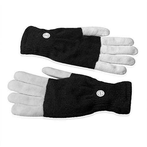 (SIENOC LED Blinklicht Glow Finger-Handschuhe Bunte & 7 Modus Warm Handschuhe Ein Paar)