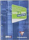 Clairefontaine Metric 65816c Bloc-note Petits carreaux 200 pages + 100 pages gratuites Bleu
