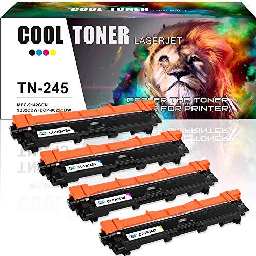 Cool Toner 4 Pack Kompatibel für TN 241 TN-241 TN-245 Toner Brother Drucker für Brother DCP-9022CDW DCP-9017CDW MFC-9342CDW 9332CDW HL-3140CW Multifunktionsgerät Farblaser Brother Toner DCP 9022CDW