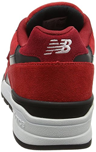 New Balance 597, Baskets Basses Homme Multicolore (Red/Black)