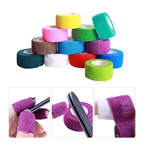 NICOLE DIARY 5 Rolls-Nagel-Remover-Verband-Kleber-Nagel-Kunst-Gel-Polnisches entfernen Wrap Schutzband Skin Care Finger-Streifen-Maniküre-Nagel-Kunst-Werkzeuge (zufällige Farben) (Nail Kleber-streifen)