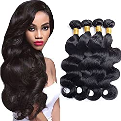Maxine 9 A Virgin brasileño pelo cuerpo Wave Remy Cabello humano 4bundles Weaves 100% en estado natural extensiones de pelo natural color