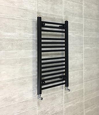 450mm de ancho negro toallero radiador plano escalera para baño con estilo