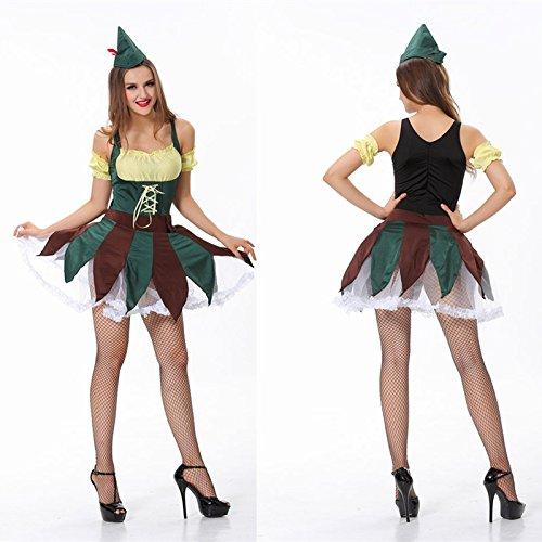 DLucc Halloween-Kostüm Teufel Kleid Schlank Rock schwarzen Hexenkostüm
