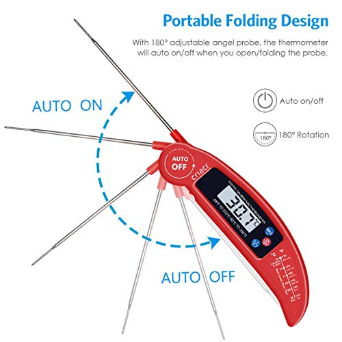 Amir Food Thermometer, Digital Instant Read Meat Thermometer with Probe