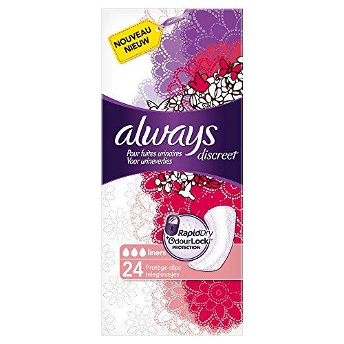 Always Discreet Slipeinlagen für Blasenschwäche und Inkontinenz X24, 3 er Pack