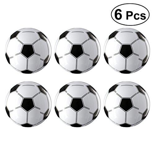 Toyvian palloni da calcio gonfiabili bomboniere per bambini giocattoli per bambini set 6 pezzi (bianco e nero)