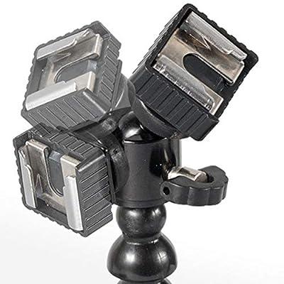 Shumo New Flexible Dual Arm Hot Shoe Flash Bracket Mount Holder for Macro Shot Camera Accessories