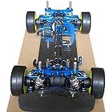 Hobbypower aleación & carbono Tamiya TT01TT01E eje unidad 1/104WD Touring Car Frame Kit