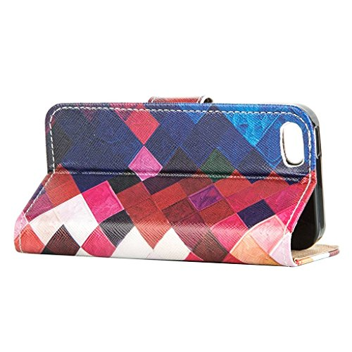 hyait® Case for Apple iPhone 5 G/5S Flip Leather Wallet With Card Holder and Kickstand Case Cover RX30 RX05