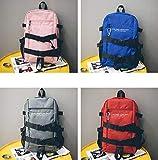 SEBAS Home Persönlichkeit Rucksäcke High School Unisex Student Schoolbag Canvas Rucksack mit großer Kapazität (Color : Blue)