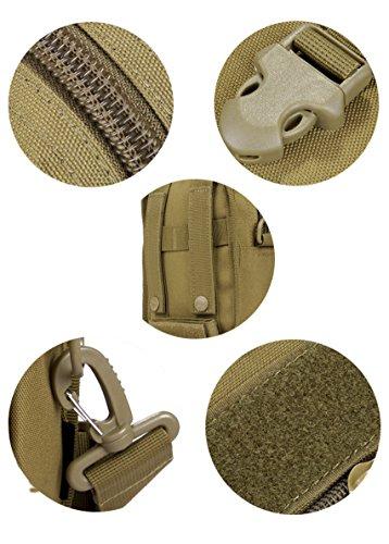 YAAGLE Fahrrad Auto-Paket Vertikalschnitt klein Schultertasche outdoor Werkzeugtasche stellvertretende Taschen Eintritt Paket Kuriertasche Hüfttasche durch Gürtel-braun braun