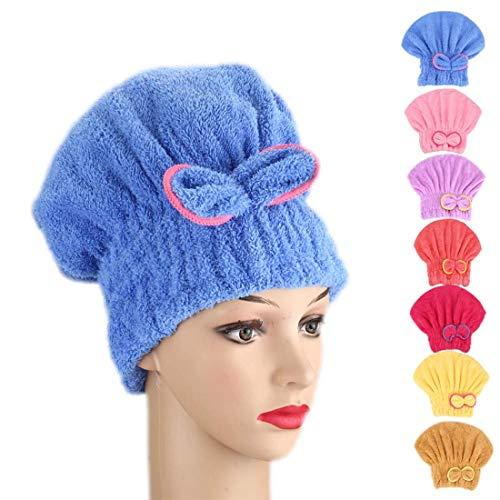 Toalla microfibra pelo secado rápido envuelva turbante