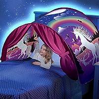 MOCHOAM Tente Magique du Monde, Cadeau de Noël intérieur pour Enfants de Tente de rêve, rêve de Famille pour Enfants en Bas âge (avec lumières LED)