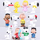 Snoopy - set 12 figuras-con bolsa de plastica- 5-6cm