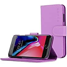 iPhone 7 Plus Case, Snugg Purple Leather Flip Case [Card Slots] Executive Apple iPhone 7 Plus Wallet Case Cover and Stand [Lifetime Guarantee] - Legacy Series