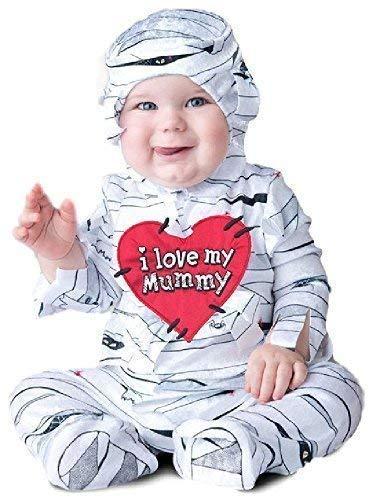 Fancy Me Baby Jungen Mädchen Lovable ägyptische Mumie Schlafanzug Halloween unheimlich Horror Süß Kostüm Kleid Outfit 6-24 Monate - 12-18 Months (Süße Mumie Kostüm)