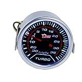 Mintice™ Car Motor Universal Smoke Tint Tint Len 2' 52mm Psi Turbo Indicator Boost Bar Gauge Meter