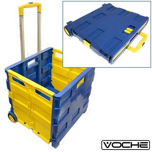 Voche® Pack 'n' Go Large Folding Shopping Trolley 35kg Boot Storage Cart Test